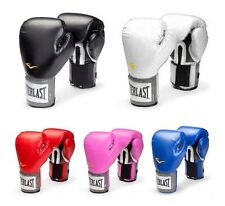 Everlast Pro Style Boxing Training Gloves Free Combat Fighting Gloves