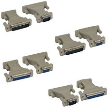 DB9 DB25 Male Female M/M,M/F,F/F Serial/ AT Modem Adapter Gender Changer Molded
