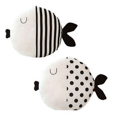 Black White Cartoon Fish Pillow Toys Baby Kids Christmas Gifts House Decor Lips