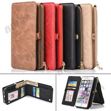 Luxury Magnetic Multifunction Card Pocket Leather Wallet Phone Case For iPhone