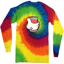Funny Beer Shirt tie dye shirt long sleeve tie dyed tee shirt for men