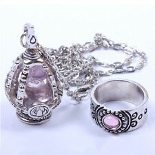 Cosplay Puella Magi Madoka Magica Soul Gem Magic Ring and Necklace Set
