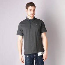 Mens Gio Goi Borax Polo Shirt In Charcoal Marl From Get The Label