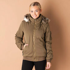 Womens Bench Bomber Jacket In Olive From Get The Label