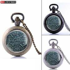 Antique Quartz Pendant New Pocket Watch Retro Vintage Necklace Chain Steampunk