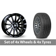 "4 x 20"" Bola XTR Matt Black Alloy Wheel Rims and Tyres -  225/35/20"