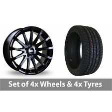 "4 x 20"" Bola XTR Matt Black Alloy Wheel Rims and Tyres -  255/50/20"