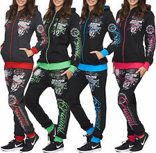 Women's Neon Colour Jogging Suit Running Jacket Trousers Trackies Trackies