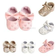 Newborn Baby Crib Shoes Bowknot Soft Sole Prewalker Baby Kid Girl Sneakers 0-18M
