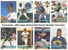 1991 Topps Stadium Club Charter Members Sets ** Pick Your Team Set **