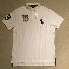 Polo Ralph Lauren Custom Fit Anchor Polo Shirt - White Size S - XXL RRP: £115.00
