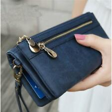 Fashion Lady Women Faux Leather Wrist Clutch Wallet Zipper Coin Card Phone Bag