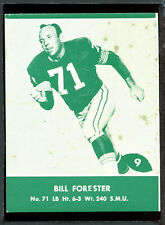 1961 Lake to Lake Packers #9 Bill Forester VG-EX 83693
