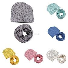 Boy Girl Toddler Winter Warm Hat Cap Wrap Infant Baby Kid Cotton Hat +Scarf Set