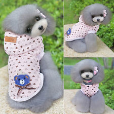 Pet Puppy Dog Cat Hooded Winter Warm Dog Coat Jacket Clothes Apparel Plus S-XXL