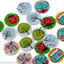 Wholesale HOT! Wooden Buttons Mixed Animals Plants Cute 2-hole Sewing Scrapbook