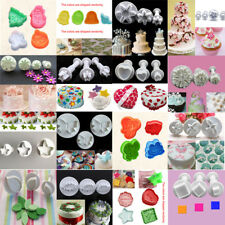 Cake Cutter Plunger Cookie Fondant Sugarcraft Flower Decorating Mould Mold Tools