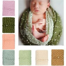 Baby Newborn Infant Mohair Crochet Hand Knit Wrap Photo Prop Photography Blanket