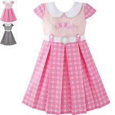 Sunny Fashion Girls Dress Pink Belted School Uniform Pleated Hem Age 4-14 Years