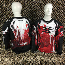 NEW Empire 2014 LTD FT Padded Paintball Jersey Shirt - Blood (Red/White/Black)