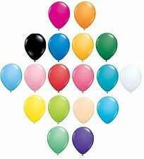 Pack of 6 Qualatex Latex Balloons - Fashion Colours - All Sizes(Helium)