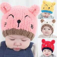Fashion Winter Warm Crochet Knit Beanie Baby Toddler Boy Girl Hat Cap Earflap