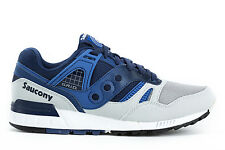 SAUCONY Mens Sneakers GRID SD Trainers Shoes S70217-1 Blue Synthetic Leather