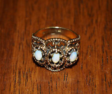 Antique Opal Victorian Style Ring 18kt T.H.G.E. Sum-Spec Size 6.5 Womens