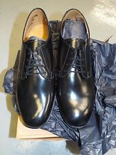 WOMEN'S BLACK LEATHER WORKING PARADE GIBSON SHOES - Sizes , British Army NEW