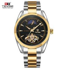 Tevise Stainless Steel Auto Automatic Moon Phase Mechanical Men Women Watch L2B6