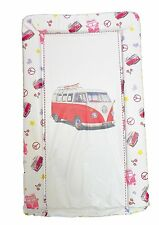 Baby Changing Mat, Brand new. Waterproof. Raised sides. VW Campervan PINK retro
