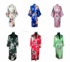 Hot Chinese Traditional Peacock Kimono Robe Geisha Dress Sleepwear Pajamas Robe