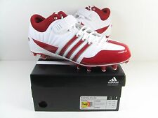 NEW Men's ADIDAS 'Brute Force 2 Fly Mid' RED LACROSSE CLEATS ATHLETIC SHOES