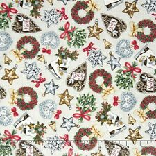 Balmoral Icons Christmas Fabric Holiday Makower Premium Cotton