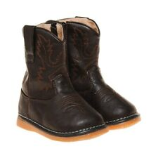 Boy's  Dark Brown Toddler Squeaky Cowboy Boots Sizes 1 to 7