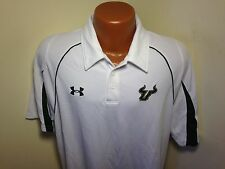 Mens Under Armour USF Bulls S/S Polo/Golf Shirt Size Large L South Florida Bulls