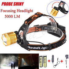 5000LM XM-L T6 LED Headlamp Flashlight Headlight Zoomable Torch+Battery+Charger