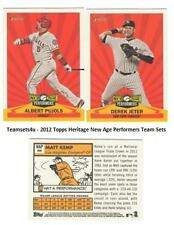 2012 Topps Heritage New Age Performers Baseball Sets ** Pick Your Team Set **
