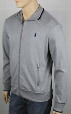 Polo Ralph Lauren Grey Full Zip Sweatshirt Track Jacket Blue Pony NWT