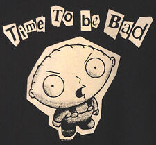 STEWIE GRIFFIN SHIRT*M*NWT*Black*Time to be Bad*Family Guy