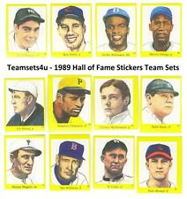 1989 Hall of Fame Stickers Baseball Team Sets ** Pick Your Team Set **