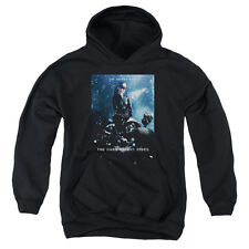 The Dark Knight Rises Catwoman Poster Big Boys Youth Pullover Hoodie BLACK