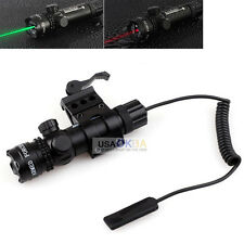 Green Laser Sight Quick Release Rifle Mount Scope Weaver Rail +Remote Controller
