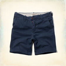 NWT Hollister by Abercrombie Classic Beach Prep Fit Shorts Navy 36
