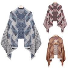 New Fashion Women Winter Warm Plaid Quilted Shawl Wrap Stole Neck Long Scarf