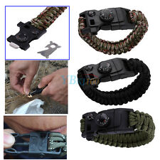 Survival Paracord Bracelet With  CompassThermometer Bottle Opener Multi Tool