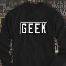 GEEK VIDEO GAMES NERD SMART DORK HUMOR FUNNY Mens Black Long Sleeve T-Shirt