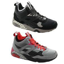 Puma Trinomic R698 Mid Street Men Trainers Lace Up Shoes Grey Black 360904