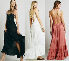 Halter Womens Pageant Bridesmaid Evening Formal Gown Prom Party Maxi Party Dress