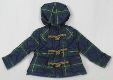 POLO Ralph Lauren Green Blue Plaid Toggle Button Hooded Coat Jacket NWT $135